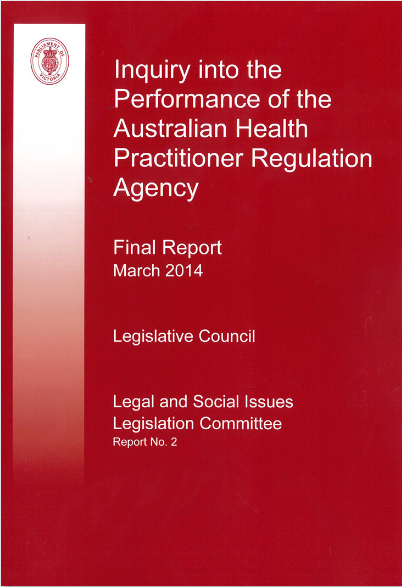 Inquiry into the Performance of AHPRA